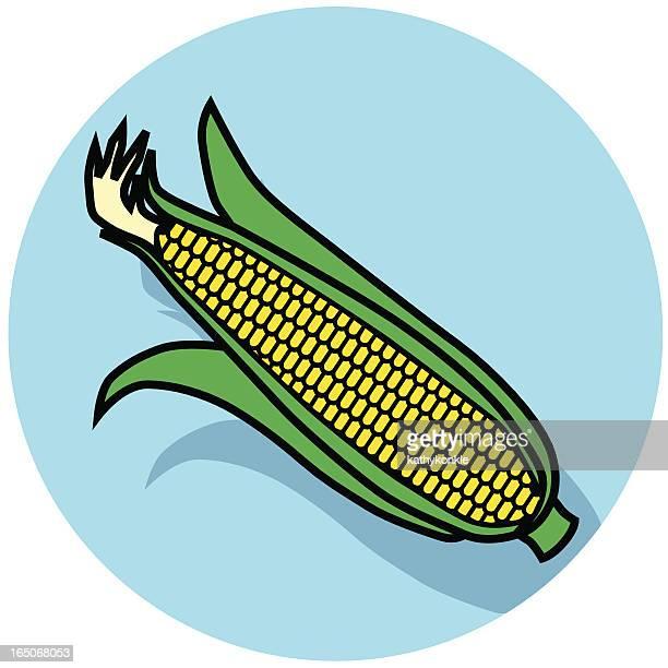 ilustraciones, imágenes clip art, dibujos animados e iconos de stock de icono de maíz - puesto de mercado