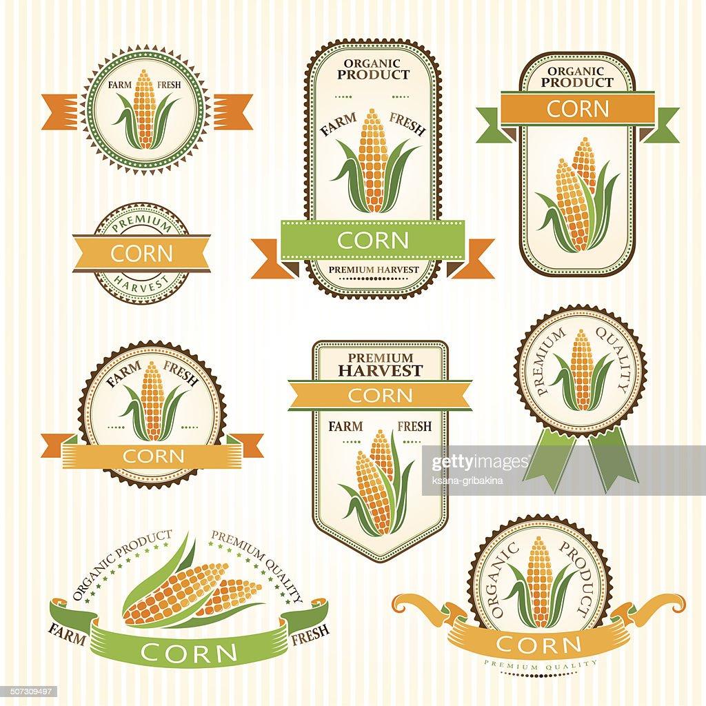 Corn labels.
