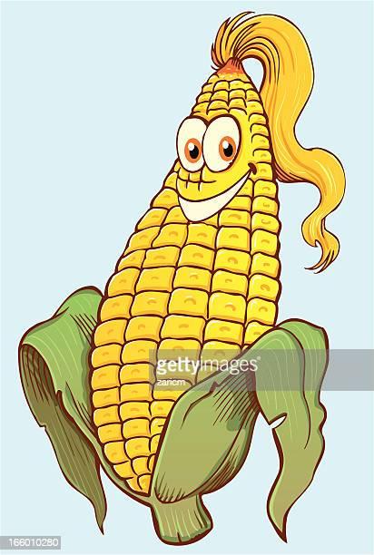 corn - zea stock illustrations, clip art, cartoons, & icons