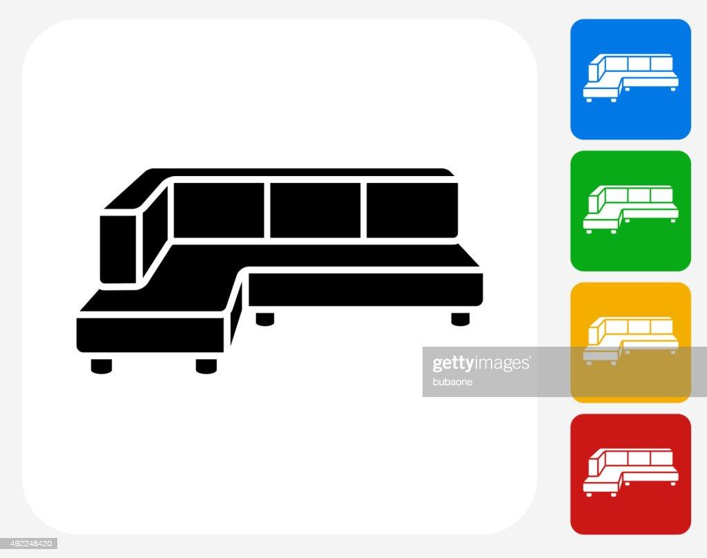 Corner Convertible Sofa Icon Flat Graphic Design Vector Art Getty