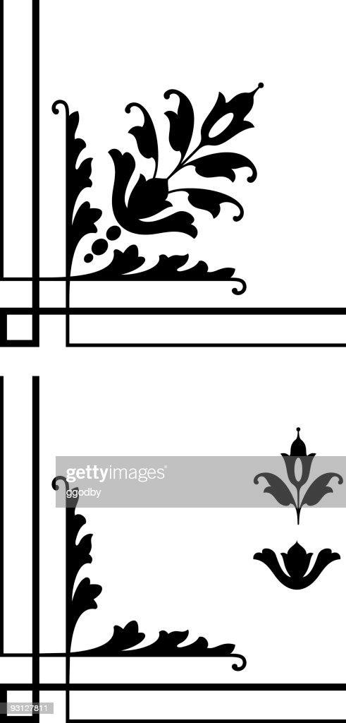 Corner Design Elements stock illustration - Getty Images