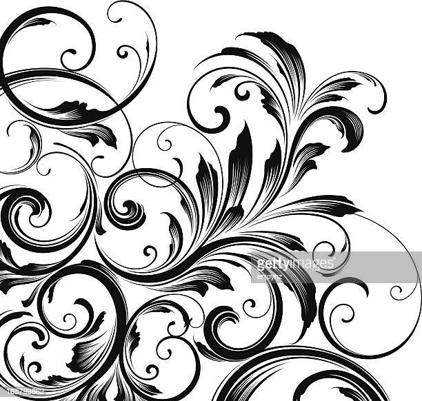 Corner motif background