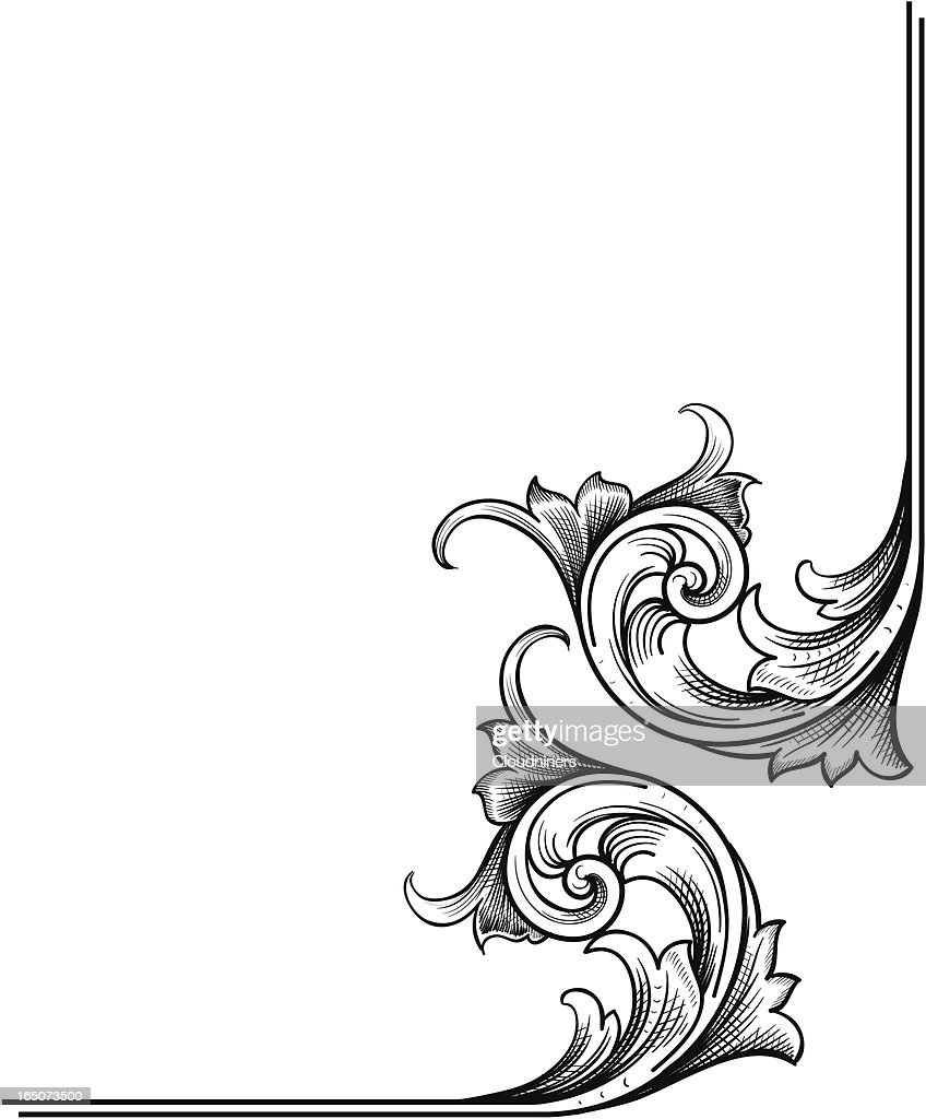 Corner Scrollwork : stock illustration