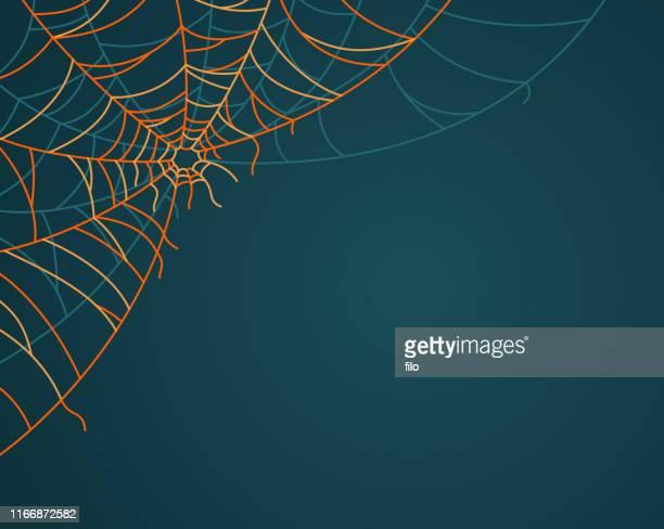 corner spiderweb - halloween wallpaper stock illustrations