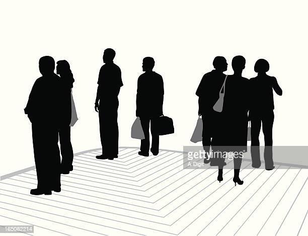 corner vector silhouette - stranger stock illustrations