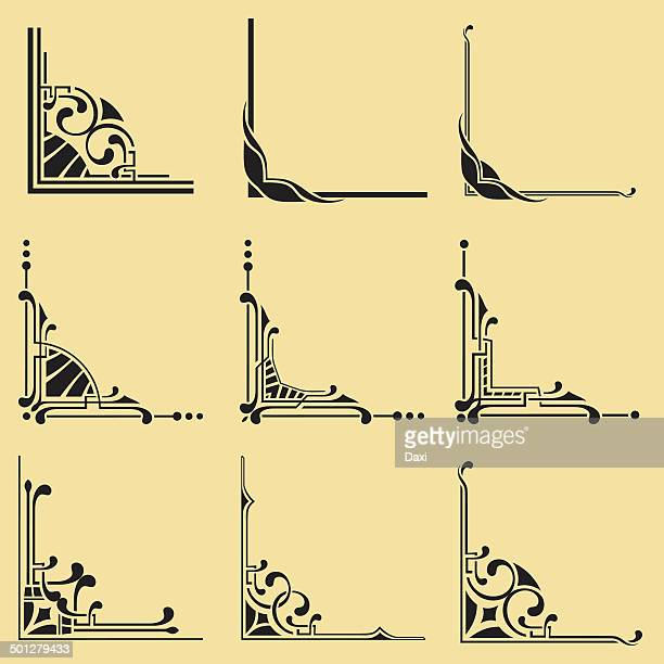 corners - construction frame stock illustrations