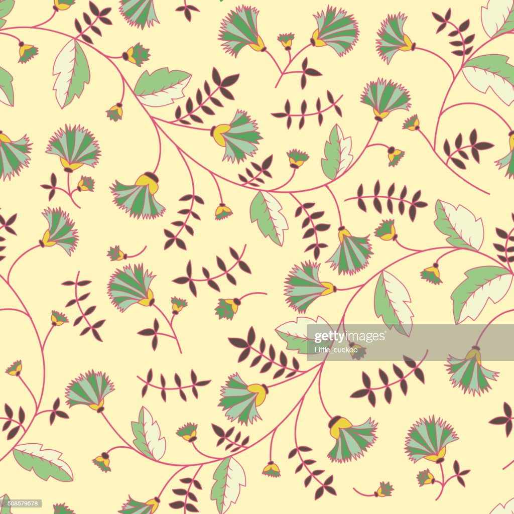 Cornflower pattern. Vector seamless texture : Vector Art