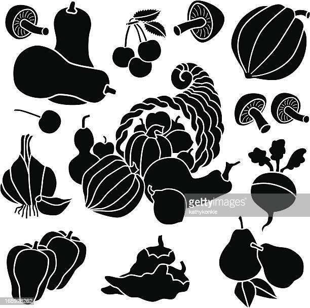 cornucopia and produce icons