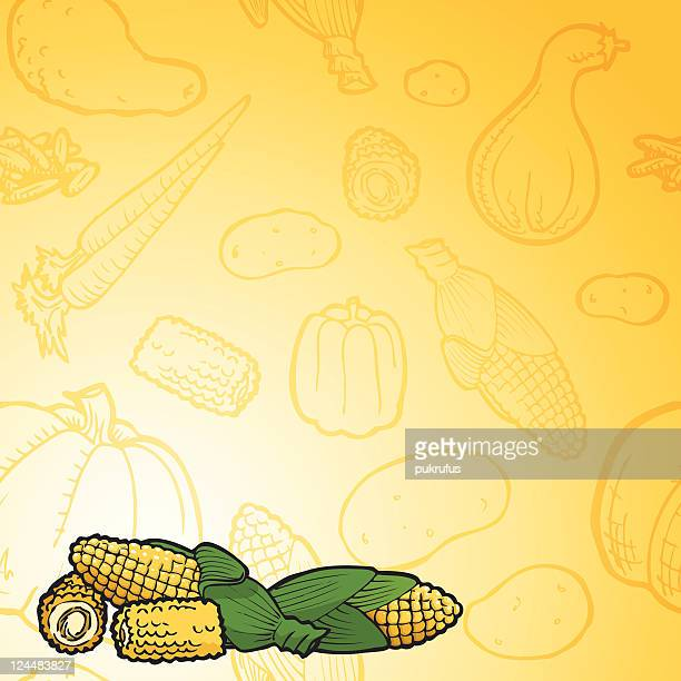 corny background - zea stock illustrations, clip art, cartoons, & icons