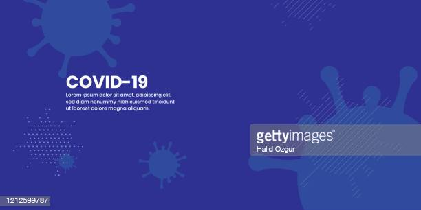 stockillustraties, clipart, cartoons en iconen met corona virus covid-19 abstract flat background - coronavirus