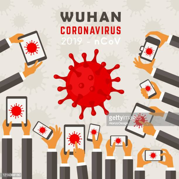 corona virus - covid-19. - hysteria stock illustrations