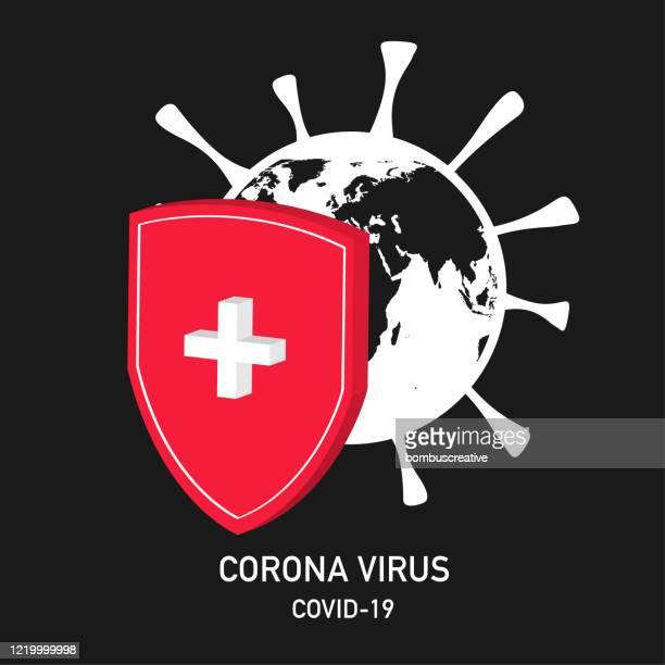 corona virus covid-19 - disease vector stock illustrations