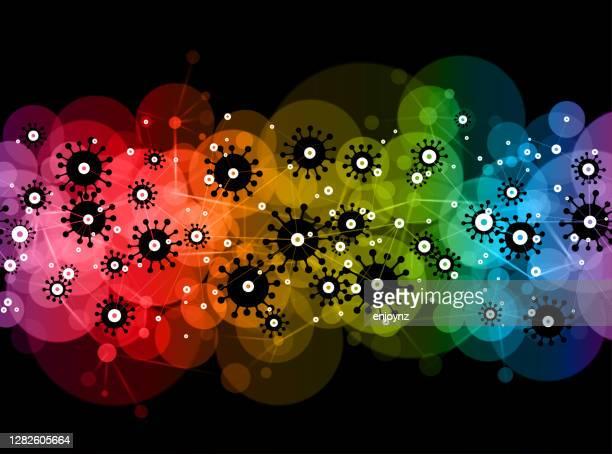 コロナウイルス抽象的な虹の背景 - ゲイ・パレード点のイラスト素材/クリップアート素材/マンガ素材/アイコン素材