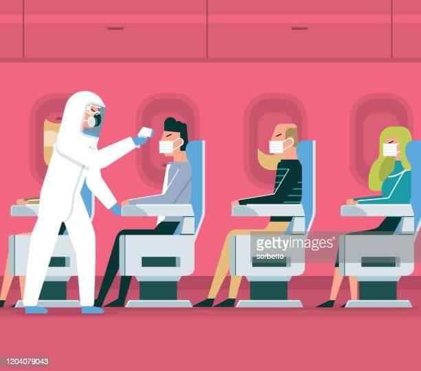 ilustraciones, imágenes clip art, dibujos animados e iconos de stock de coronavirus - vehículo aéreo - cuarentena