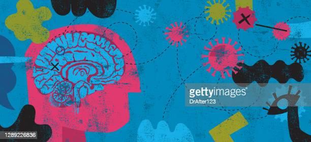 coronavirus and mental health - anxiety stock illustrations