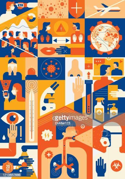 コロナウイルス基本情報 - パンデミック点のイラスト素材/クリップアート素材/マンガ素材/アイコン素材