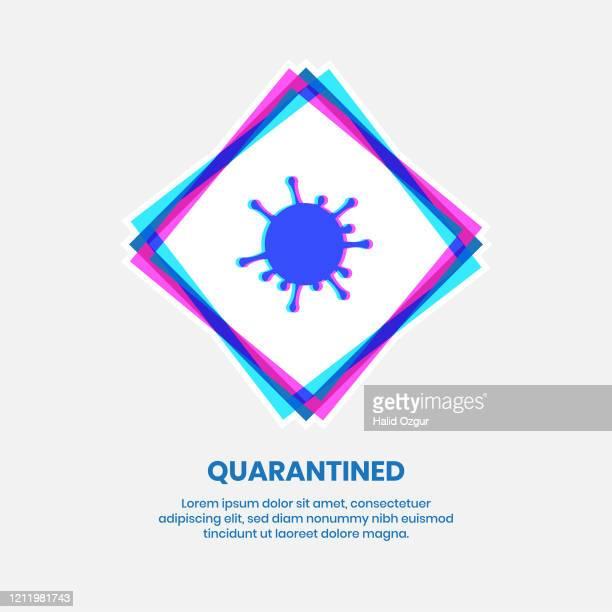 coronavirus danger alert - immunology stock illustrations