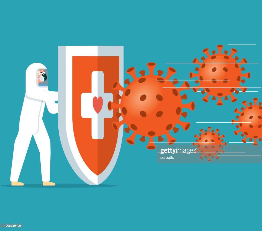 Coronavirus - Hygienic shield : Stock Illustration
