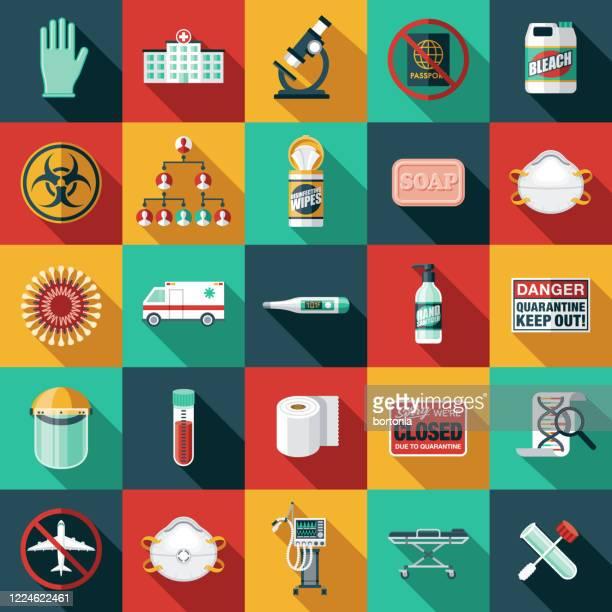covid-19 coronavirus icon set - ambulance stock illustrations