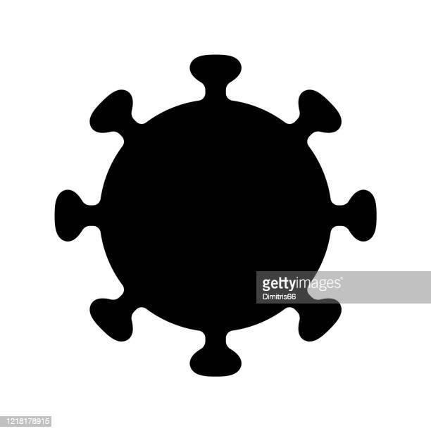 stockillustraties, clipart, cartoons en iconen met pictogram coronavirus - corona zon