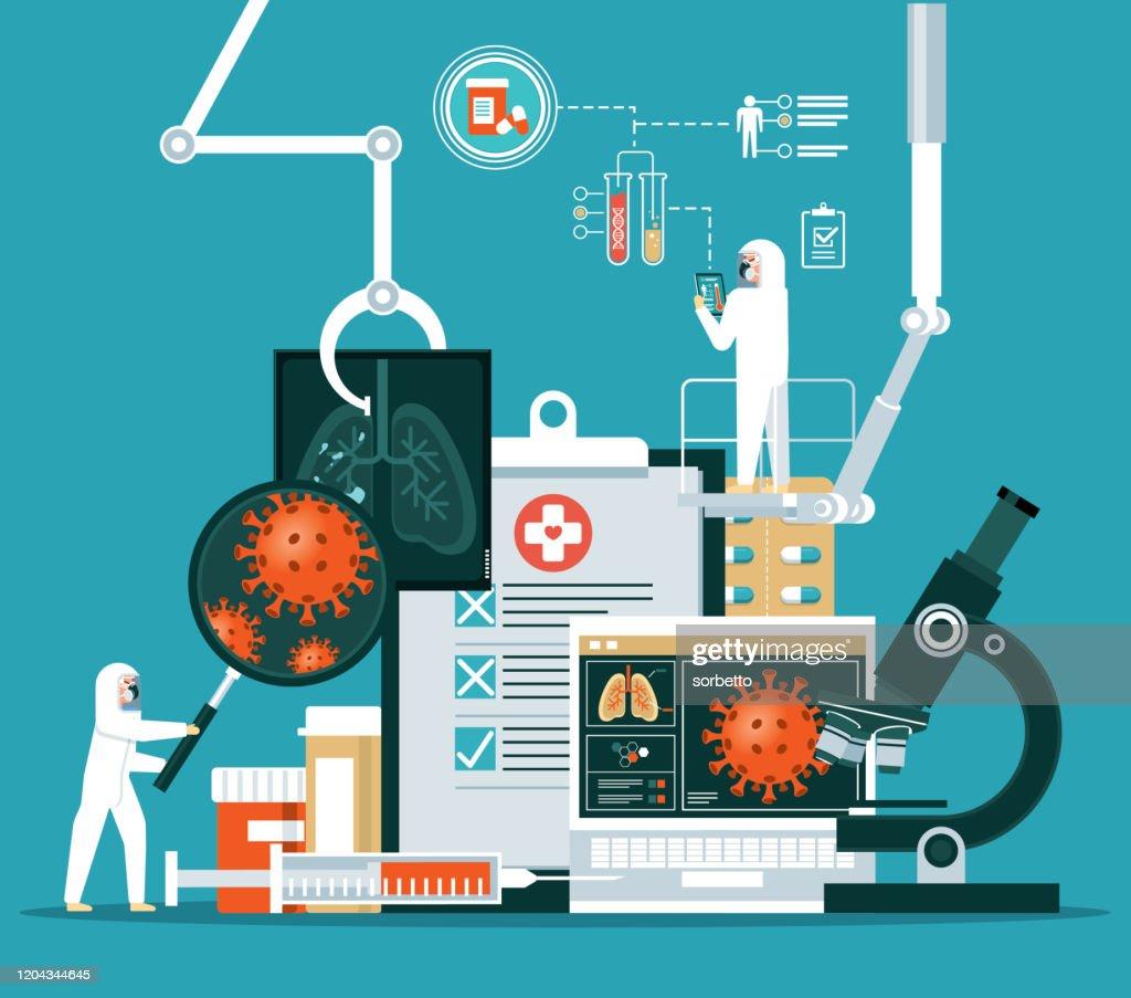 Coronavirus - Laboratory : stock illustration