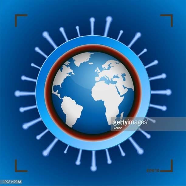 coronavirus spread planet - coronavirus stock illustrations