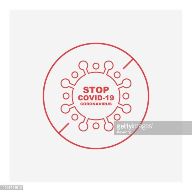 coronavirus stop pandemic alert stock illustration - severe acute respiratory syndrome stock illustrations
