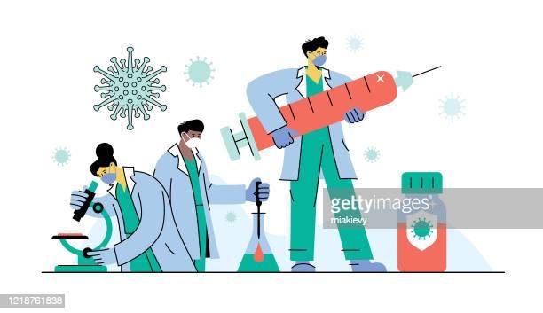ilustrações, clipart, desenhos animados e ícones de vacina coronavírus - female surgeon mask