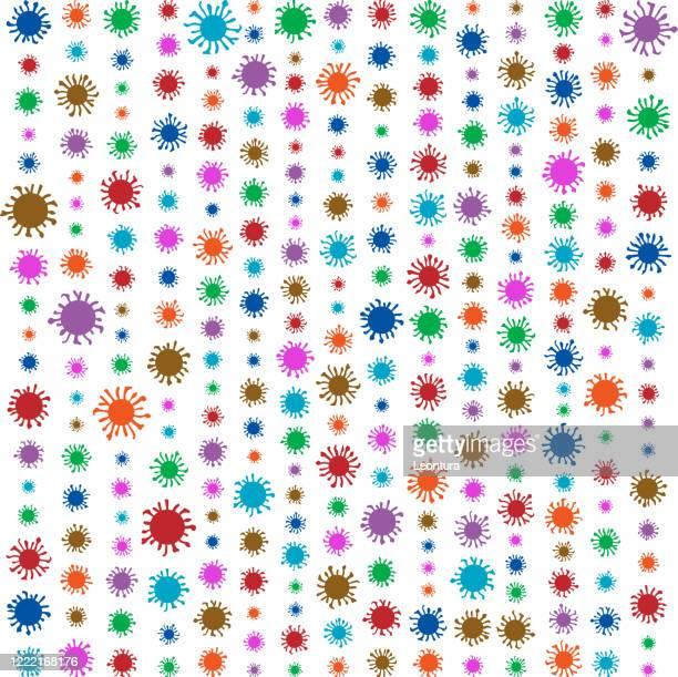 coronavirus - high scale magnification stock illustrations