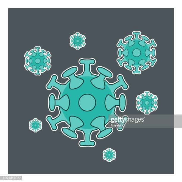 coronavirus, virus, bacteria, germs and microbe,vector icon - high scale magnification stock illustrations