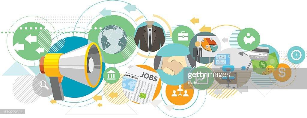 Corporate Announcement : stock illustration