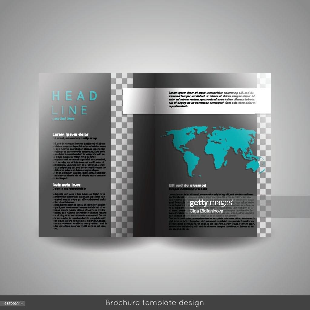 Corporate Bifold Brochure Template Design Annual Report Presentation