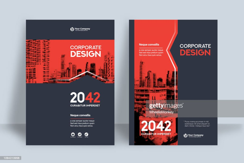 Corporate Book Cover Design Template in A4