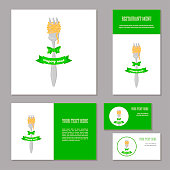 Corporate branding Fork with spaghetti and bow