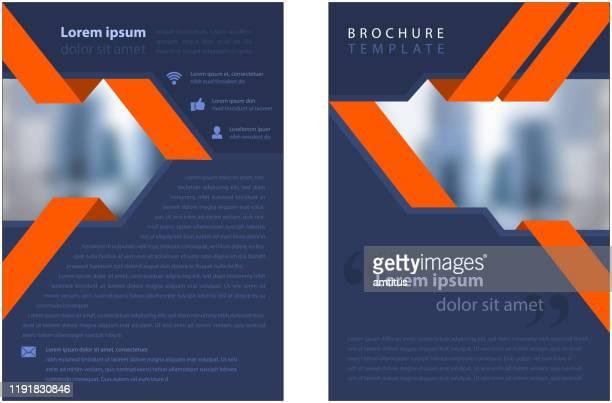 corporate brochure template - brochure stock illustrations
