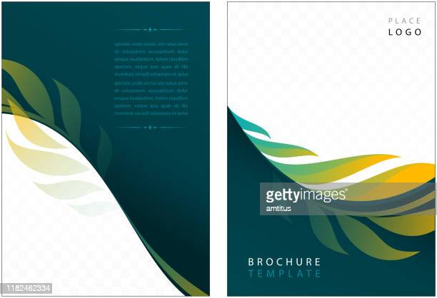 corporate brochure - magazine cover stock illustrations