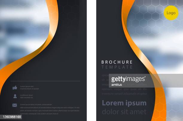 corporate brochure - catalogue stock illustrations