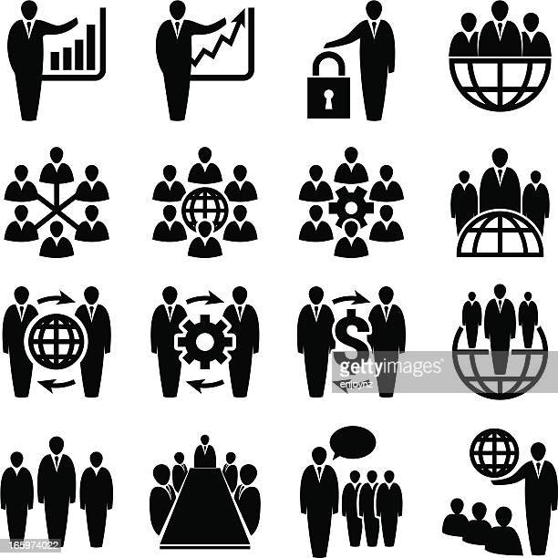 corporate business icons - corporate hierarchy stock illustrations, clip art, cartoons, & icons