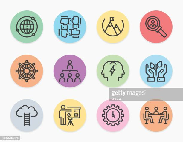 Corporate Business Line Icons