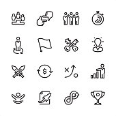 Corporate Business - outline icon set