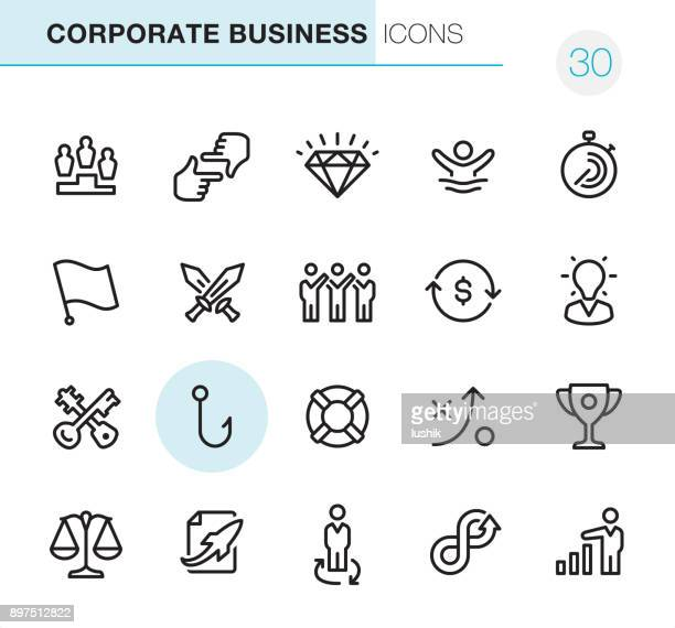 Corporate Business - Pixel Perfect icons