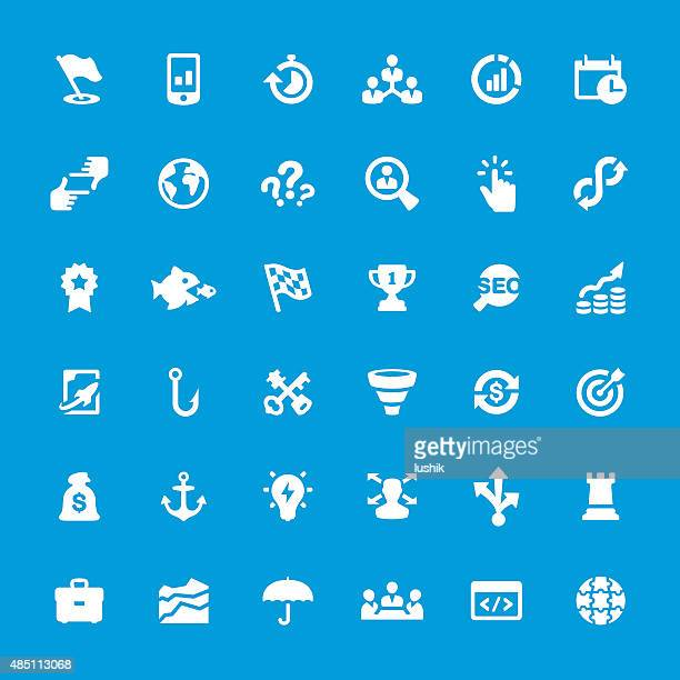 Corporate Business vector icons set