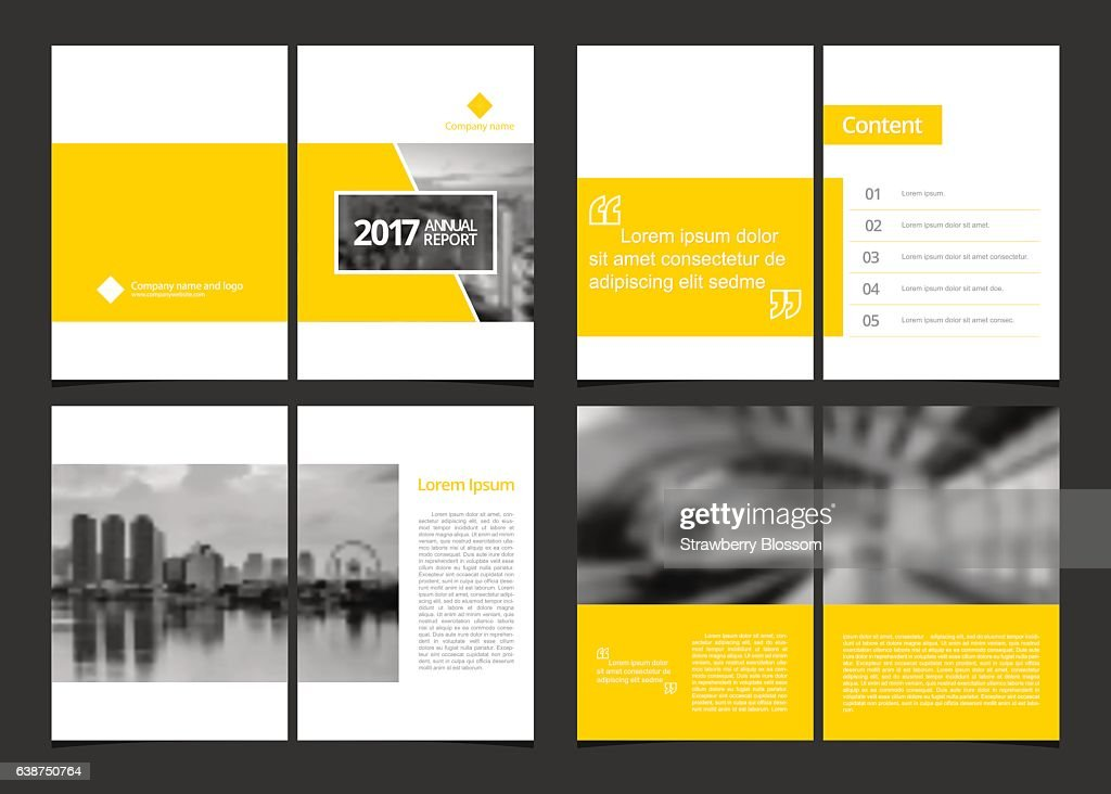 Corporate design annual report include cover design and inner page.