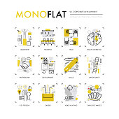 Corporate Development Monoflat Icons