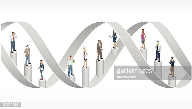 corporate dna illustration - mathisworks business stock illustrations