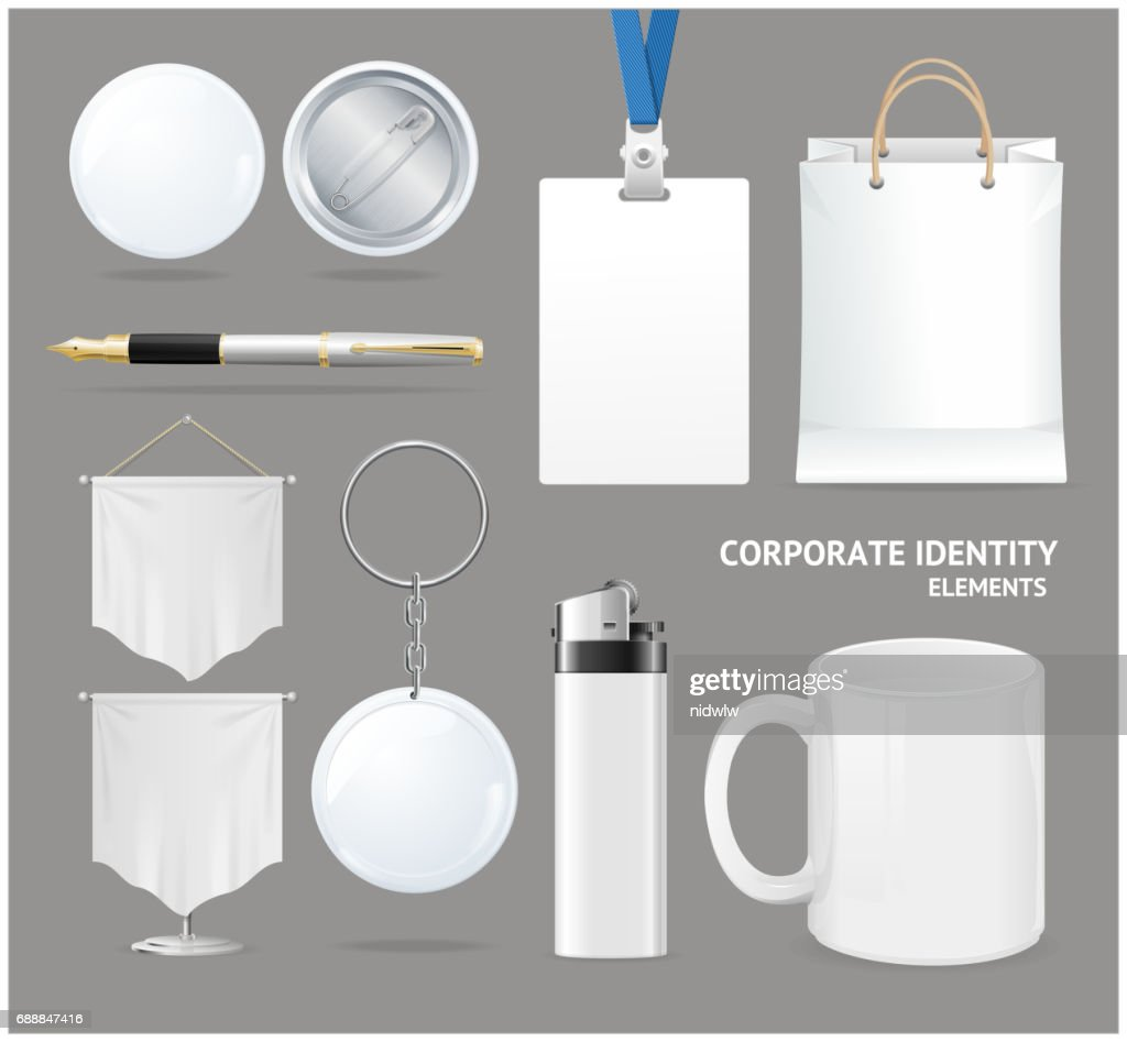 Corporate Identity Empty Blank White Set. Vector