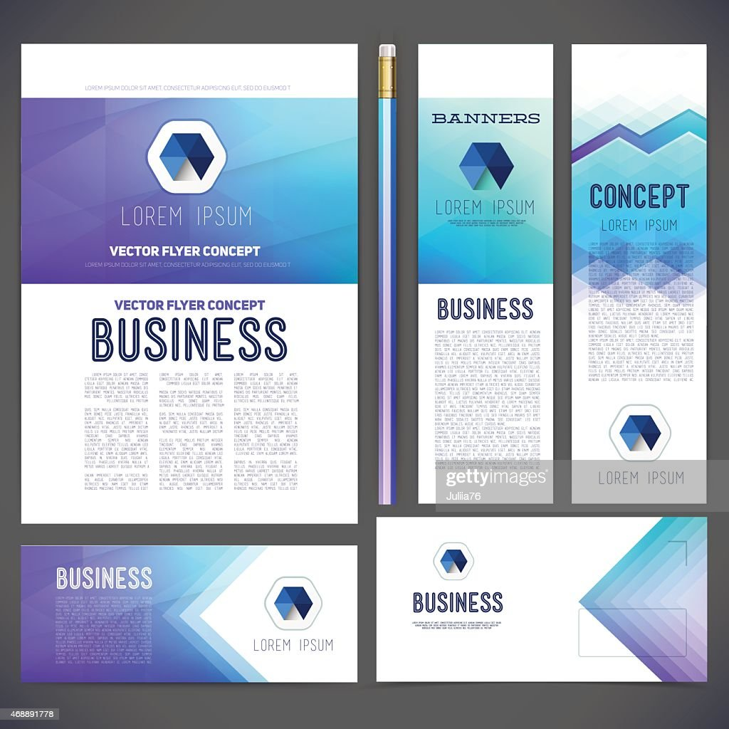 Corporate identity kit or business kit