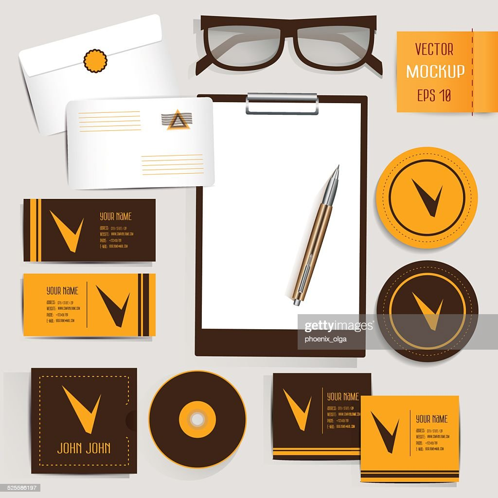 Corporate Identity Mockup Templates. Vector 10 EPS