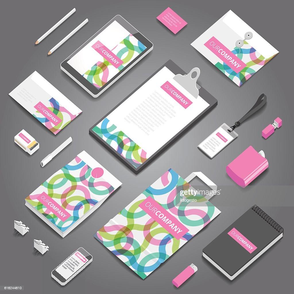 Corporate identity print template : Vector Art