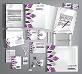 Corporate Identity set. Beautiful design. Modern abstract busine